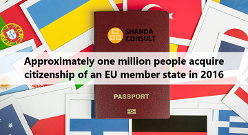 Approximately one million people acquire citizenship of an EU member state during the last 5 years, 4,660 in Cyprus