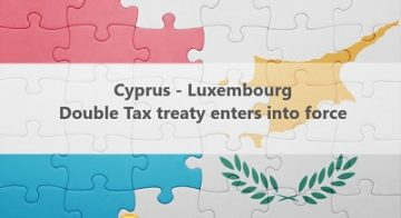 Cyprus – Luxembourg double tax treaty entered into force