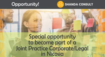 Special Opportunity to Enter a Joint Practice Corporate/Legal in Nicosia