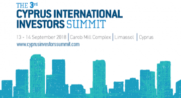 3rd Cyprus International Investors Summit on 13-14 September, 2018