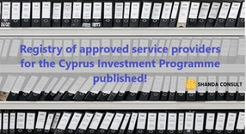 Registry of approved service providers for the Cyprus Investment Programme (CIP)