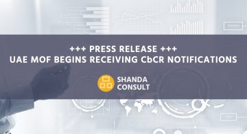 PRESS RELEASE +++ UAE MoF begins receiving CbCR notifications